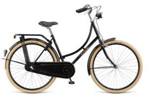 női városi kerékpár kosárral